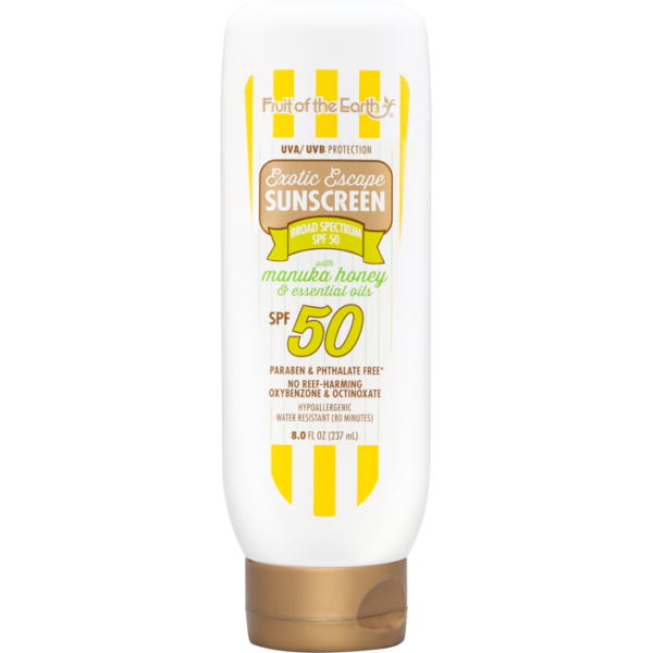 Exotic Escape Sunscreen with Manuka Honey and Essential Oils SPF 50 Lotion