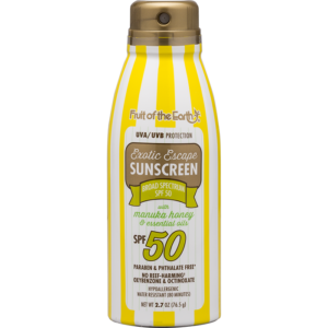 Sunscreen with Manuka Honey and Essential Oils SPF 50 Travel Spray